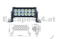 Offroad LED-Leuchte 25 cm 36 W